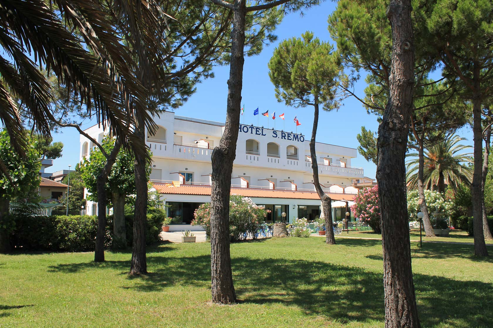 Hotel San Remo - Under the shade of pine and palm trees